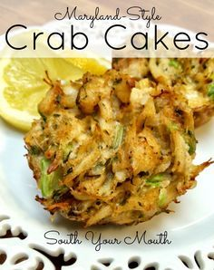 South Your Mouth: Grandma's Maryland-Style Crab Cakes. In Maryland please omit the celery and the onion ~ let the fresh crabmeat shine thru ! Crab Cake Recipes, Fish Recipes, Seafood Recipes, Appetizer Recipes, Cooking Recipes, Party Appetizers, Potato Recipes, Vegetable Recipes, Recipes