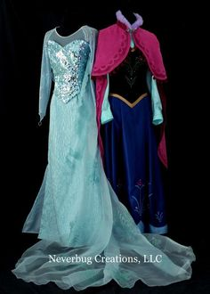 I WANT! another pinner said: dope2111 has a elsa make up tutorial and in the end she tells you how to make an exact replica of elsa's dress.