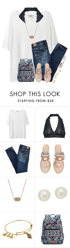 """Day 6// First day of school"" by breezerw ❤ liked on Polyvore featuring Acne Studios, Free People, American Eagle Outfitters, Jack Rogers, Kendra Scott, Honora, Alex and Ani, Vera Bradley, Maybelline and pineapplesummer"