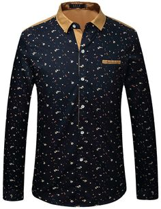 SSLR Men s Casual Straight Fit Long Sleeve Shirt at Amazon Men s Clothing  store  European American 152479e1924b
