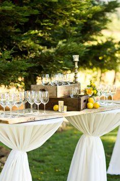 Table idea. Rustic Cocktail Hour Decor