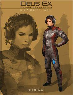 Deus Ex: Human Revolution -- Ferina Mallik concept art.