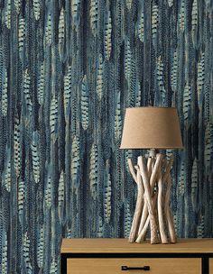 r sultat de recherche d 39 images pour papier peint bleu canard vanessa inspiration en 2018. Black Bedroom Furniture Sets. Home Design Ideas