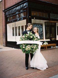 Gorgeous wedding wreath