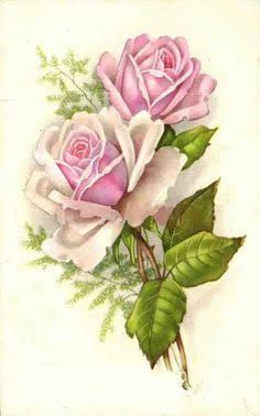 Image result for pink rose decoupage