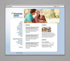 Webdesign do site para clínica de Neoplasias Litoral (2011). www.neoplasiaslitoral.com.br