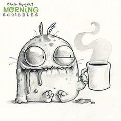 Chris Ryniak is creating Friendly Monster Drawings - . - Chris Ryniak is creating Friendly Monster Drawings - - ? Cute Monsters Drawings, Funny Drawings, Art Drawings Sketches, Doodle Drawings, Easy Drawings, Doodle Art, Funny Sketches, Monster Sketch, Doodle Monster