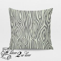 Storm Grey Willow Custom Square Decorative Pillow Cover