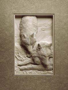 Бумажные животные Кэлвина Николлса: волки