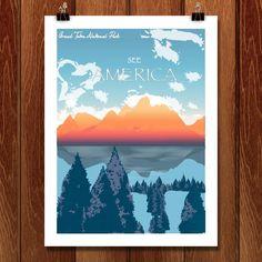 Grand Teton National Park by Jenny Jin