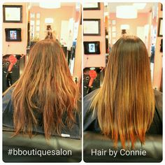 We touched up her #regrowth #color and did a fresh #balayage #lanza