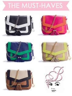 Audrey Brooke Dolce Color Block Cross Body Bag  $69.95