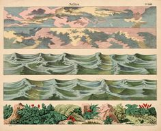beautiful paper backdrops for toy theaters (19th century)