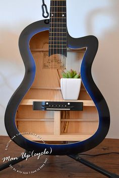 Handmade Upcycled Guitar Lamp Light Shelf Centre by ManUpcycleAUS