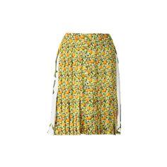 STELLA McCARTNEY All Over Small Citrus Skirt ($380) ❤ liked on Polyvore featuring skirts, bottoms, gonne, gossip girl, women, knee length skirts, women skirts, stella mccartney and stella mccartney skirt