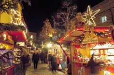 "Although we didn't see the Basel Christmas market lit up at night, a walk through the festivities during the daytime was fun, too. Another pinner said: ""Basel Christmas Market. Photography: Property of Viking River Cruises unless noted. Unauthorized use is prohibited."""