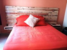 Large Pallet Headboard with Nightstands - 30 DIY Pallet Ideas For DIY Home Decor | Pallet Furniture DIY