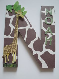 Nursery Wall Letter, Single Initial, Kids Room Decor,Personalized, ShowerGift, Holiday Gift, Jungle 3D Custom Wall Letters. $19.99, via Etsy.