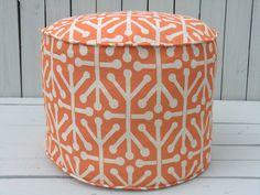 Orange pouf ottoman round ottoman in 18 orange floor by anitascasa, $89.00