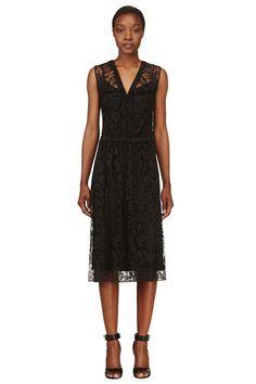 Burberry Prorsum Black Lace Overlay Dress on Vein - getVein.com/download