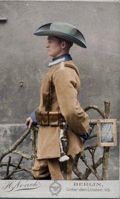 Schutztruppe Corduroy Uniform, German South West Africa 1896-1915 - in color