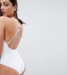 ASOS Tall ASOS TALL #ad Strappy Ring Back Swimsuit