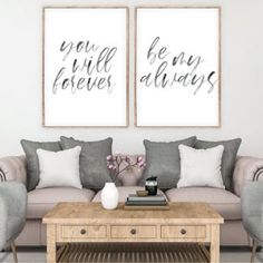 You will forever be my always! This listing contains a digital download   of two digital art prints, perfect for creating a gallery wall! Bedroom Art, Letter Art, Free Prints, Wall Art Sets, Custom Art, Botanical Prints, Artwork Prints, Printable Wall Art, Gallery Wall