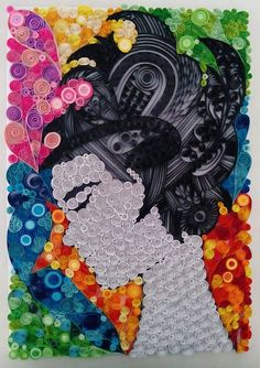 Paper quilling by Ayobola Kekere-Ekun - A Woman's Thoughts
