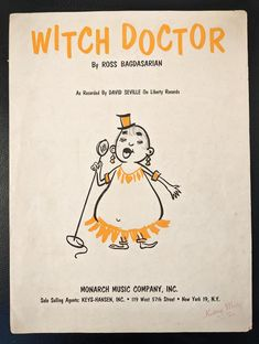 Witch Doctor Vintage Sheet Music 1958 Written and Performed | Etsy