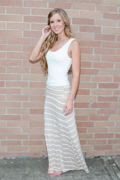 #shopanjouils.com         #Skirt                    #Solid #Maxi #Skirt #Cream/White #Arrivals          Solid Maxi Skirt - Cream/White - New Arrivals                                 http://www.seapai.com/product.aspx?PID=750452