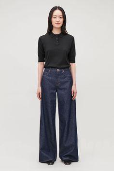 Wide Leg Jeans | Endource Wardrobe Sale, Small Wardrobe, Wide Pants, Wide Leg Jeans, Black Cropped Pants, Dark Jeans, Boho, Jeans Style, Pants For Women