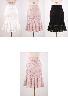 Romantic & Trendy Looks, Styleonme Denim Crafts, Church Outfits, Korean Women, Korean Fashion, Women's Fashion, Clothing Patterns, Diy Clothes, Chic, Lace Shorts