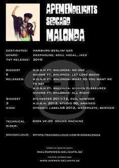 Sedcard: Malonda