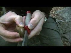 Bushcraft Knife Sharpening with Woodland Rocks!
