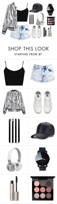 """""""Untitled #23"""" by juicyeon ❤ liked on Polyvore featuring Topshop, Boohoo, Sans Souci, Vans, Master & Dynamic, Ilia and MAC Cosmetics"""