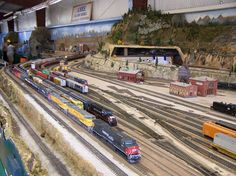 HO Scale Model Train Layouts | ho scale yard area on the amre layout at the