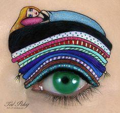 Children's stories make up/Chica hace increíbles diseños de maquillaje para OJOS. Inspirados en hermosos CUENTOS. ⋮ Es la moda