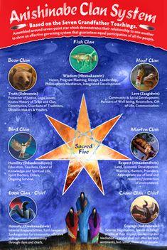 ojibwe teachings | Anishinabe Clan System Poster