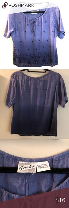 Beaded Ombré Blouse Very nice top! Beads are all intact and this top has never been worn. Geeta Tops Blouses