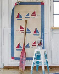 €38,- Dhurry Segelboote, 80 x 140 cm, 1,00 kg