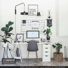home office decor & home office . home office ideas . home office decor . home office design . home office organization . home office ideas for women . home office space . home office ideas on a budget Home Office Design, Home Office Decor, Office Decorations, Office Furniture, Bedroom Furniture, Office Designs, Pipe Furniture, Furniture Ideas, Furniture Design