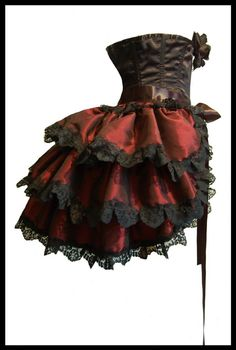 Burlesque Steampunk Tie On Bustle Skirt Shrug by lovechildboudoir Style Steampunk, Steampunk Cosplay, Victorian Steampunk, Steampunk Clothing, Steampunk Fashion, Gothic Fashion, Steampunk Dress, Victorian Costume, Burlesque