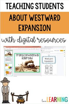 Distance Learning: Westward Expansion Unit with Interactive Notes 4th Grade Social Studies, Social Studies Resources, Teaching Social Studies, Student Teaching, Teaching Kids, Middle School Reading, Middle School English, Google Classroom, Classroom Setup