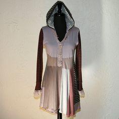 I need one of these!  upcycled clothing upcycled tunic . runaway. $138.00, via Etsy.