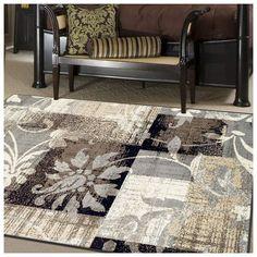 Contemporary Area Rug Durable Vintage Geometric Fl Living Room Carpet 5 X8 Contemporaryarearug