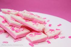Breast Cancer Awareness Treat - Strawberry Bark