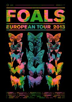 Foals - 'Euro Tour' Poster