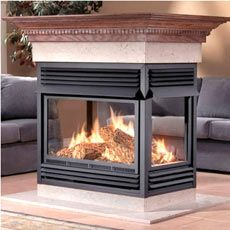 $2494 Napoleon GVF40P4 Island-open 4 sides       - GVF40 MULTI-VIEW VENT FREE GAS FIREPLACE (ZERO CLEARANCE) -  - Propane