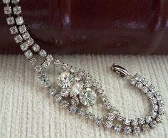 Clear Rhinestone Bracelet by SunshineSurprises on Etsy, $18.00