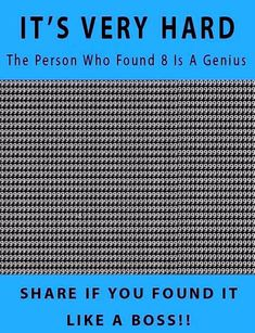 Zoki Humor: The person who found 8 is a genius Very Hard Riddles, Tricky Riddles, Funny Riddles, Jokes And Riddles, Number Riddles, Illusions Mind, Funny Illusions, Cool Optical Illusions, Crazy Funny Memes